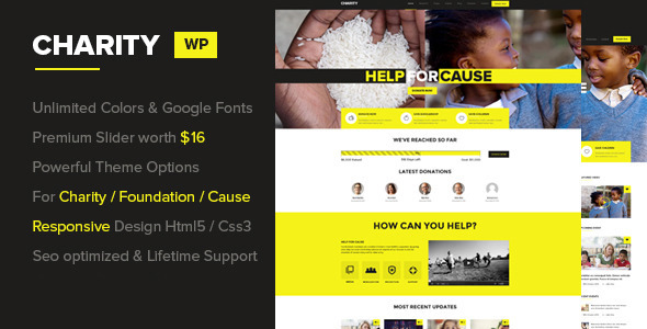 Charity - Foundation/Fundraising WordPress Theme - Nonprofit WordPress