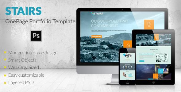 Stairs – OnePage Portfolio Template