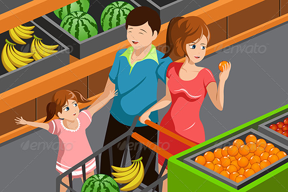 Family Shopping Grocery - Commercial / Shopping Conceptual