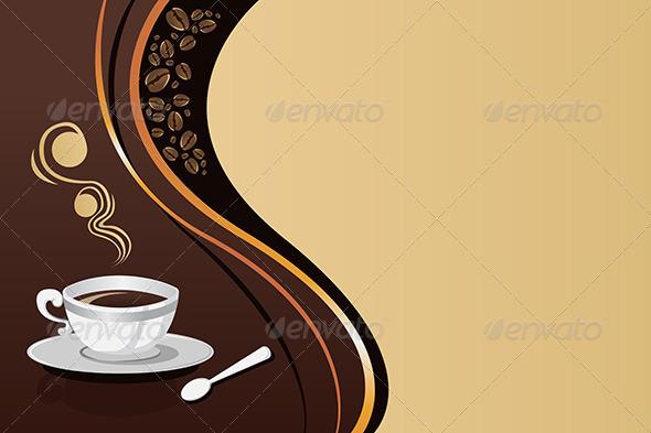 Coffee Mug Background - Backgrounds Decorative