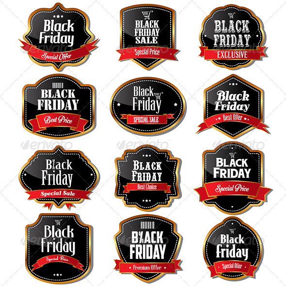 Black Friday Sale Labels - Commercial / Shopping Conceptual