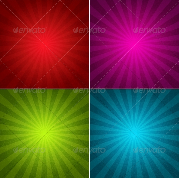 Four Grunge Vintage Backgrounds - Backgrounds Decorative