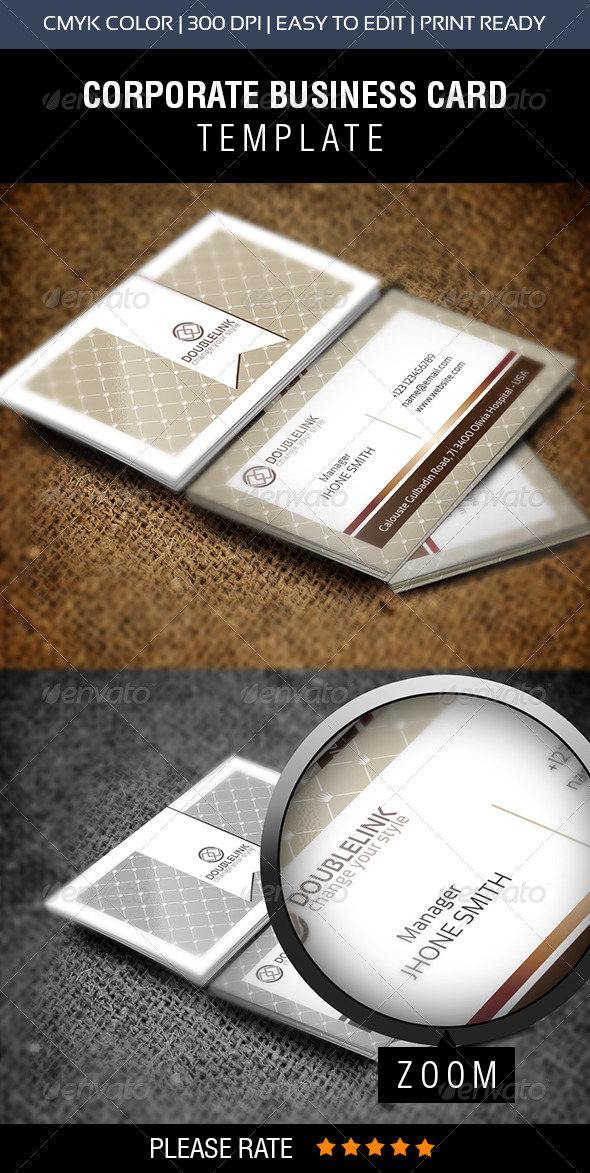 Double Click Pattern Business Card - Business Cards Print Templates