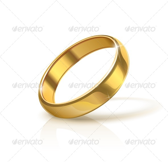 Golden Wedding Ring - Weddings Seasons/Holidays