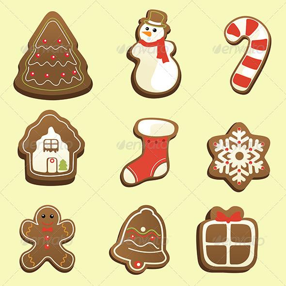 Gingerbread Icons - Christmas Seasons/Holidays