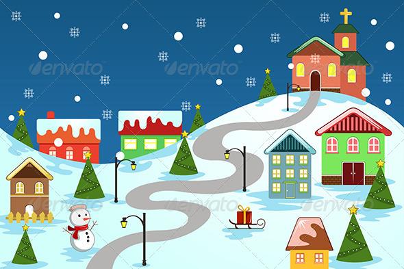 Winter Village - Christmas Seasons/Holidays
