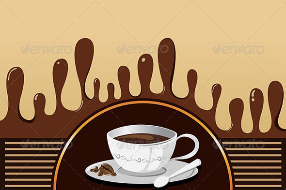 Coffee Mug Background - Backgrounds Decorative
