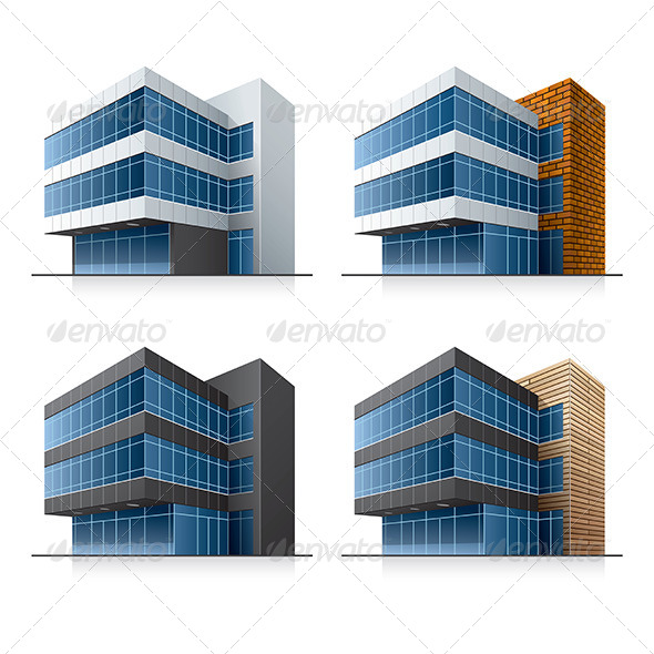 Office Buildings - Buildings Objects