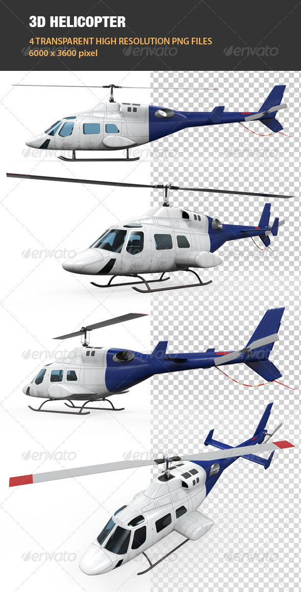 3D Helicopter - Objects 3D Renders
