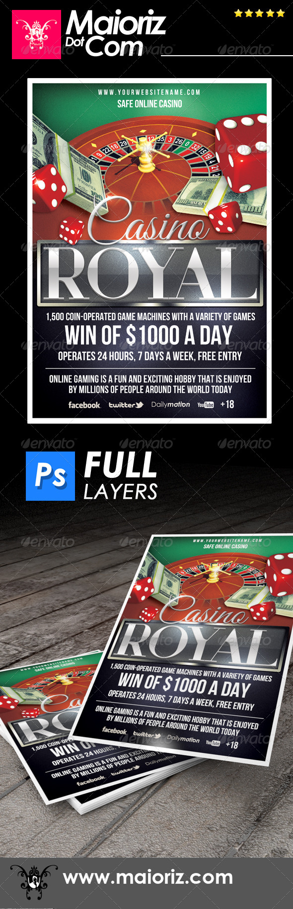 Casino Online Flyer - Corporate Flyers