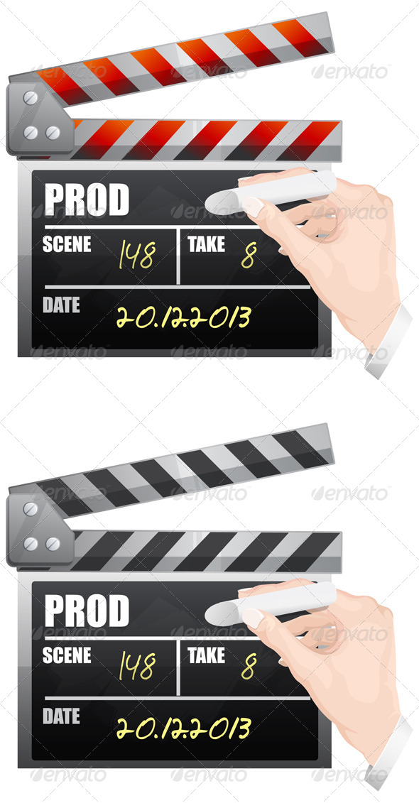 Clapper Board Illustration - Man-made Objects Objects