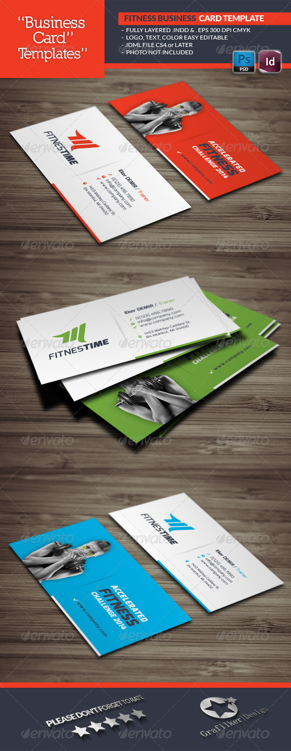Fitness Business Card Template - Business Cards Print Templates