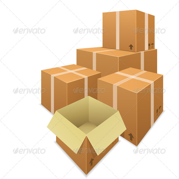 Stacks of Cardboard Boxes - Commercial / Shopping Conceptual