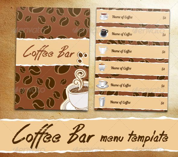 Coffee Bar Menu - Food Objects