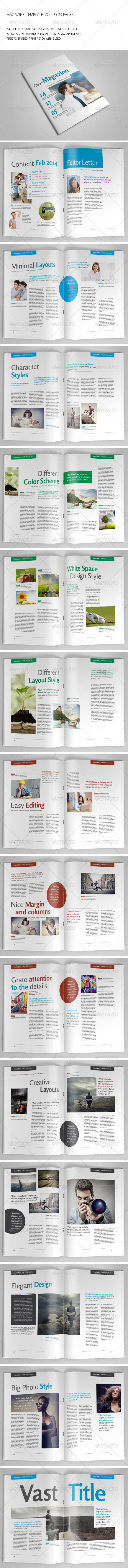 29 Pages Simple Magazine Vol8 - Magazines Print Templates