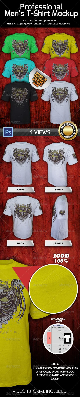 Professional Men's T-Shirt Mockup 1 - Product Mock-Ups Graphics