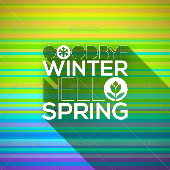 Spring Greeting Design - Seasons Nature