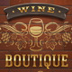 Wine Boutique - Vintage Signboard on Brick Wall - GraphicRiver Item for Sale