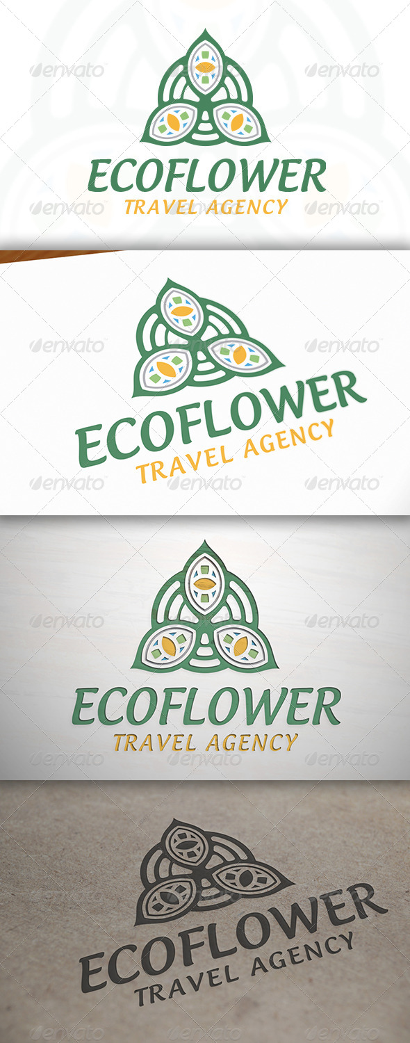 Eco Flower Logo - Vector Abstract