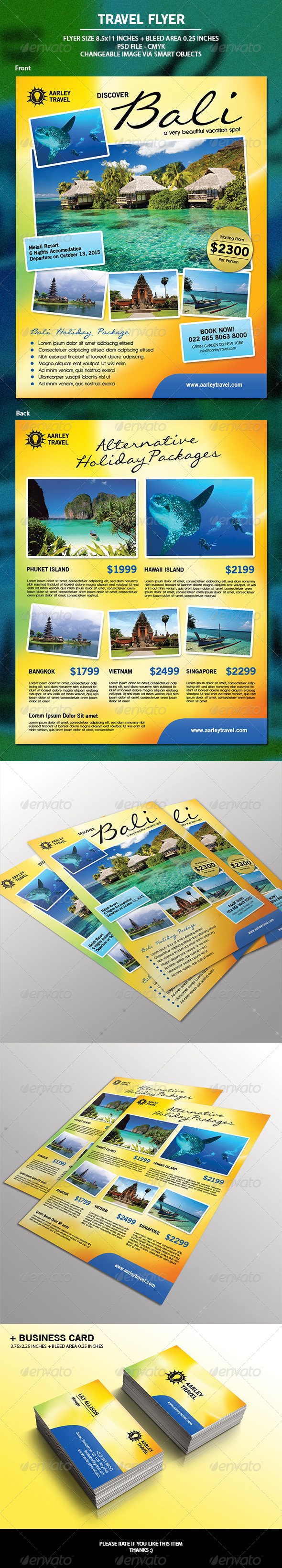 Travel Flyer + Business Card