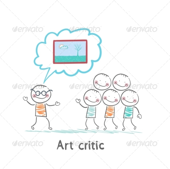 Art Critic Tells People About the Picture - People Characters