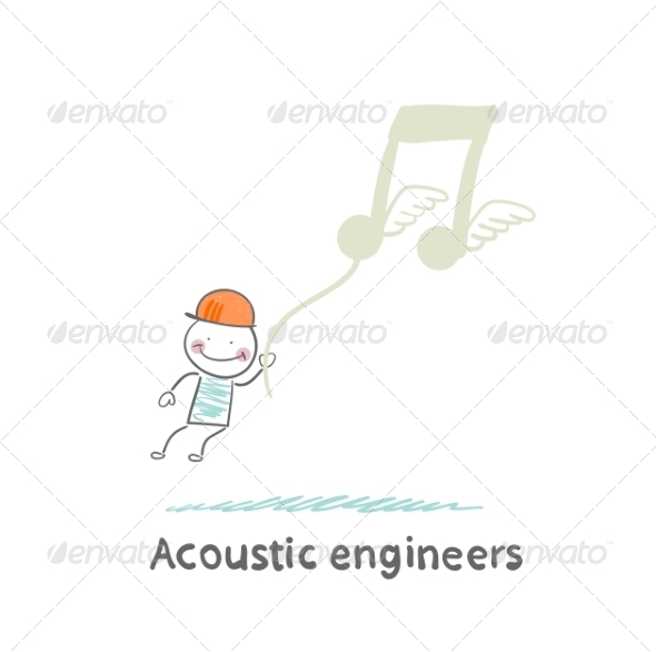 Acoustic Engineer Flies Through Notes - People Characters