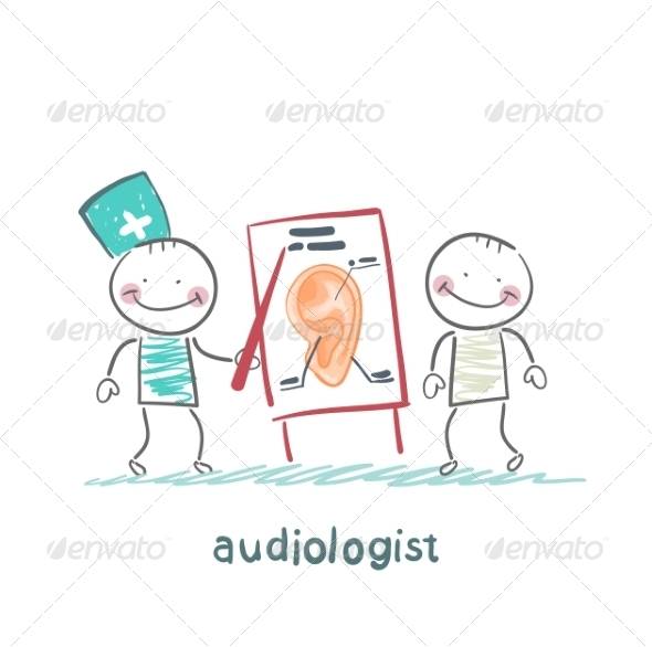 Otolaryngologist Shows a Presentation - People Characters