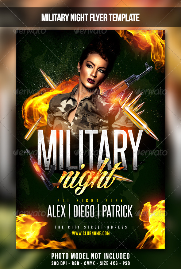 Military Night Flyer - Clubs & Parties Events