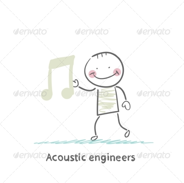 Acoustic Engineer with a Note - People Characters