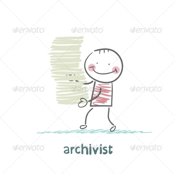 Archivist is a Stack of Files - People Characters