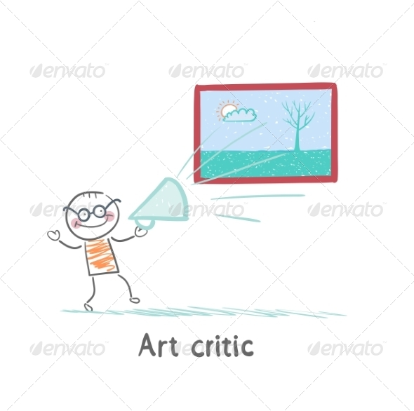Art Critic Yells at the Big Picture - People Characters