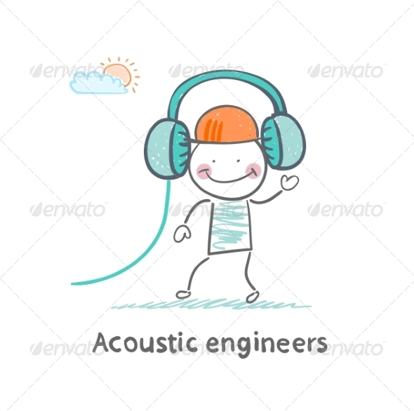 Acoustic Engineer Headphones - People Characters
