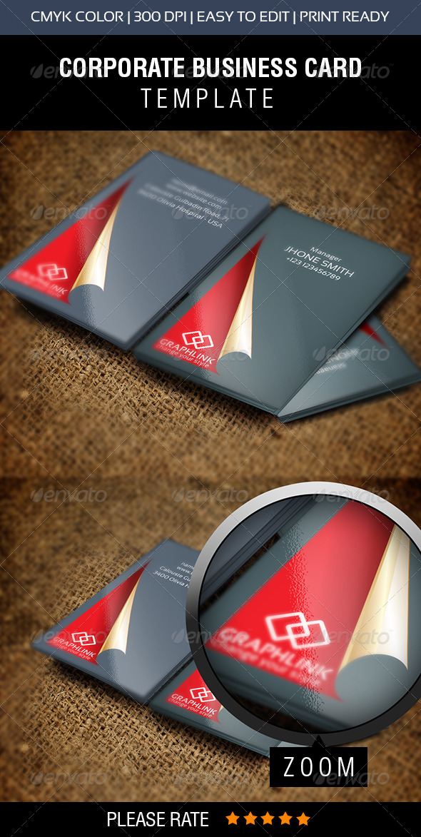 Red Carpet Business Card - Business Cards Print Templates