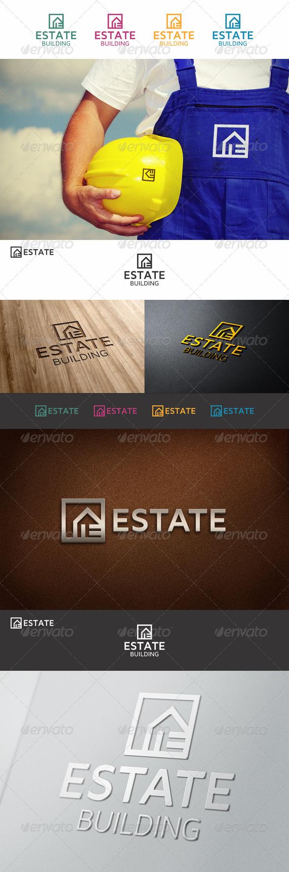 Estate Property Logo E - Buildings Logo Templates