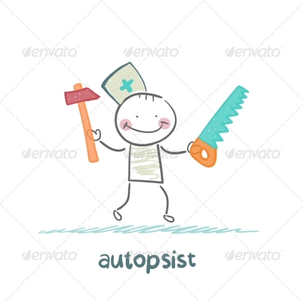 Autopsist with a Saw and Mrlotkom - People Characters