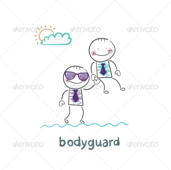 Bodyguard Carries a Businessman - People Characters