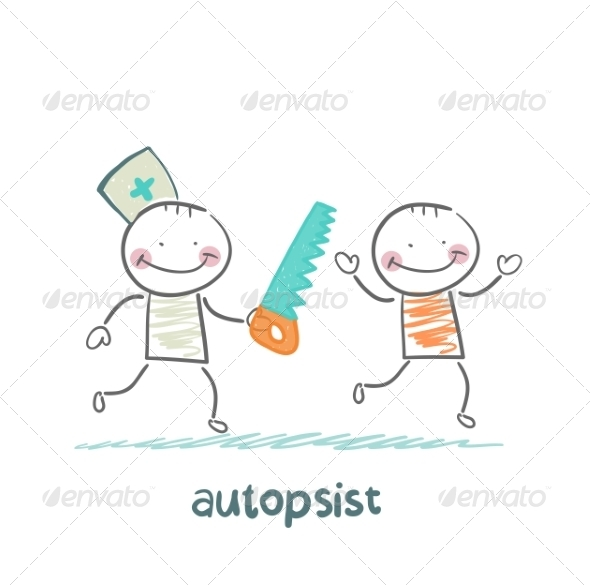 Autopsist with a Saw - People Characters