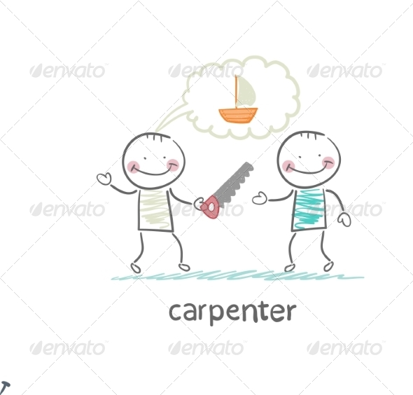 Carpenter Tells the Customer About the Ship - People Characters
