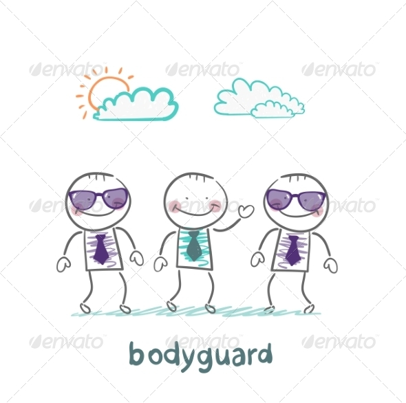 Bodyguards Protect Businessman - People Characters