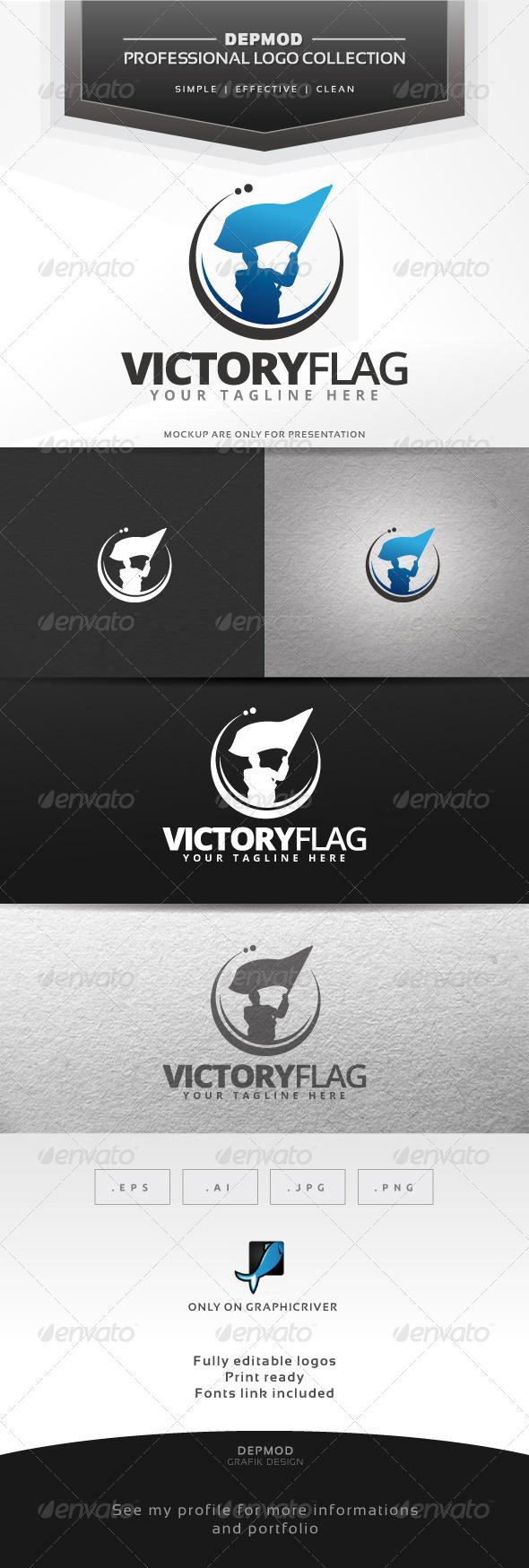 Victory Flag Logo - Humans Logo Templates