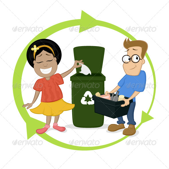 Recycling Chidlren Activities - People Characters