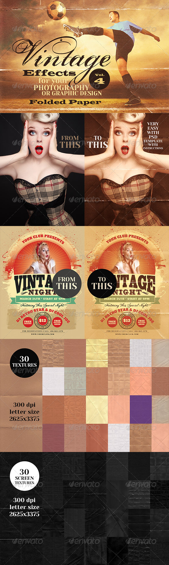 Vintage Effects for Photo, Designs 4 - Miscellaneous Photo Templates
