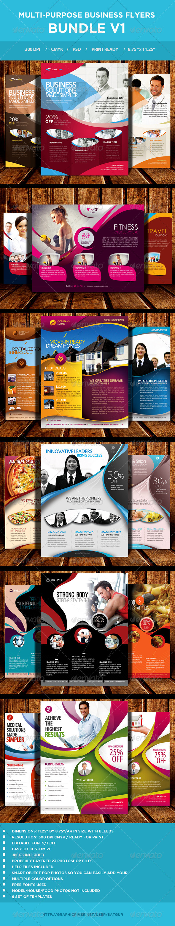 Multi-purpose Business Flyers Bundle V1 - Corporate Flyers