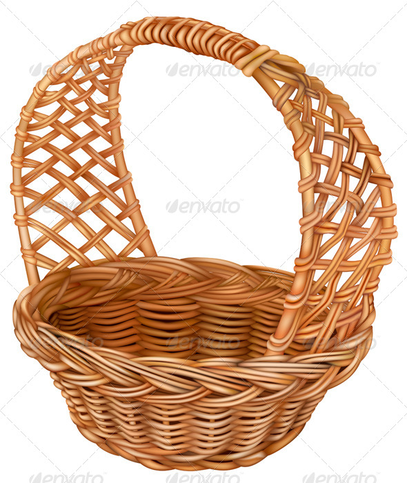 Wicker Basket - Man-made Objects Objects