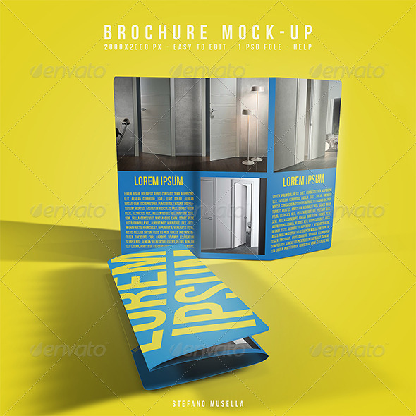 Brochure mockup - Product Mock-Ups Graphics