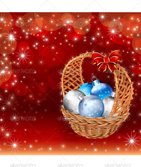 Christmas Basket - Backgrounds Decorative