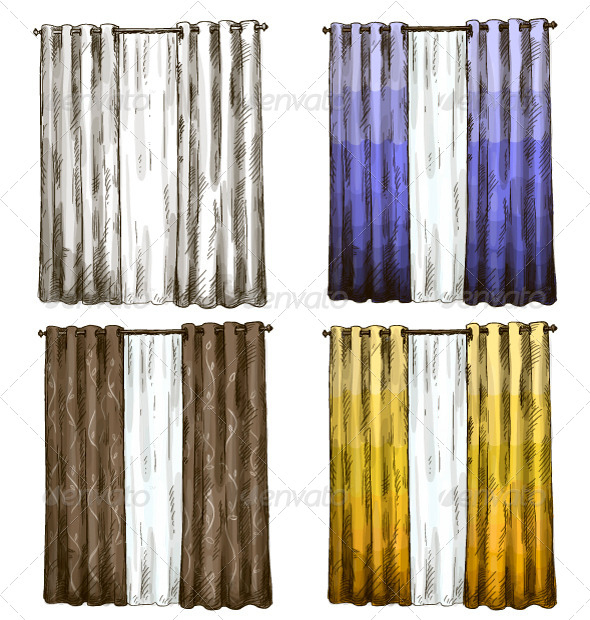 Curtains - Man-made Objects Objects