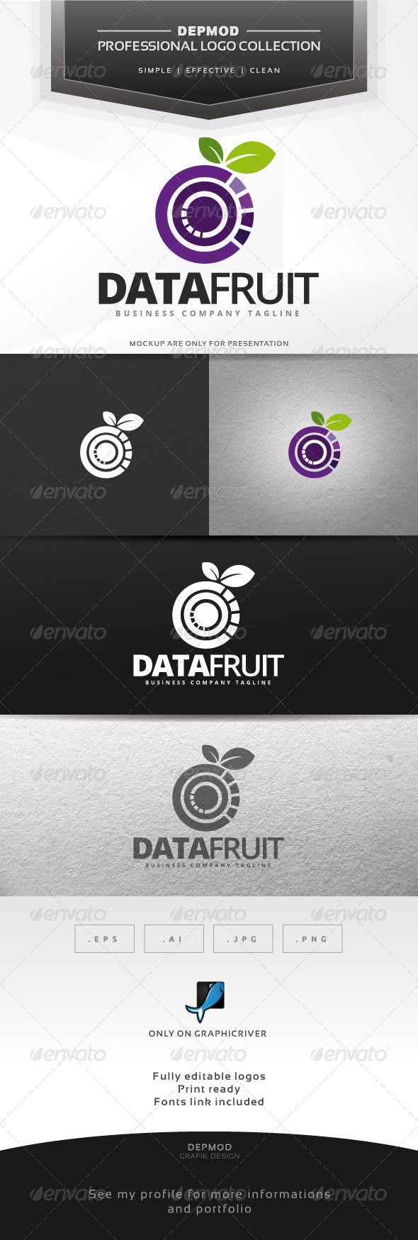 Data Fruit Logo - Symbols Logo Templates