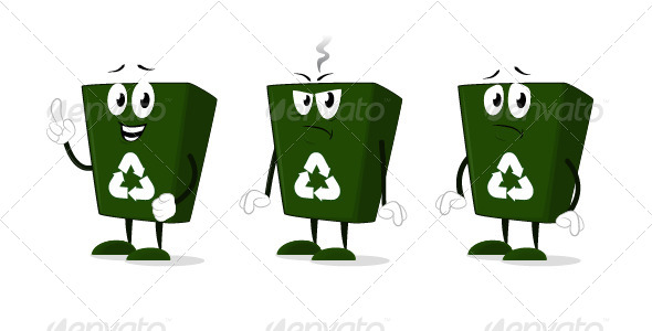 Recycle Bin Cartoon Characters - Miscellaneous Characters