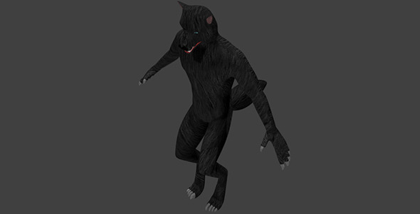 Low Poly Werewolf - 3DOcean Item for Sale